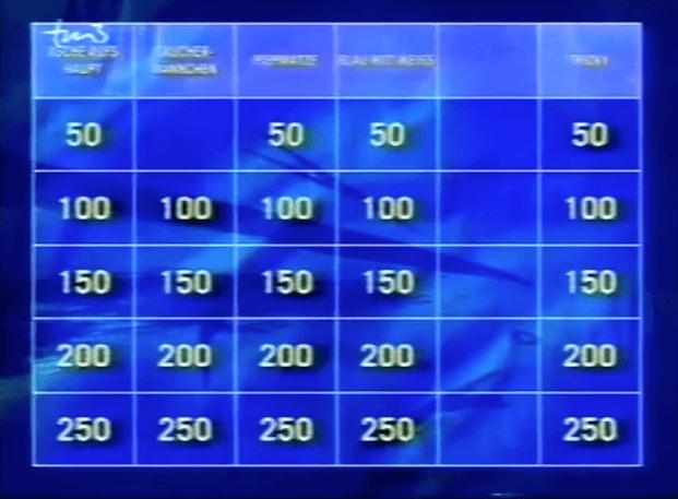 quizspiele Jeopardy