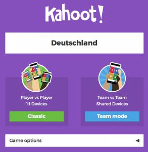 Gruppenspiele für Erwachsene und Kinder Kahoot