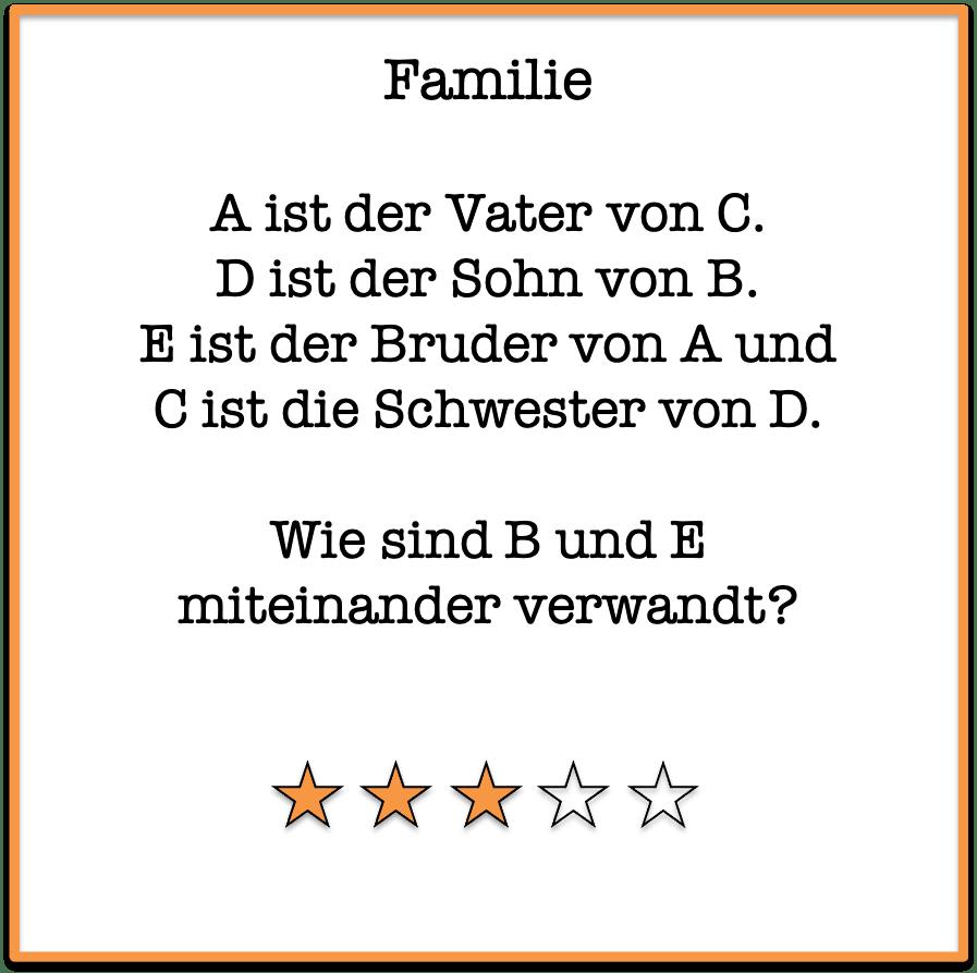 logikrätsel Familie